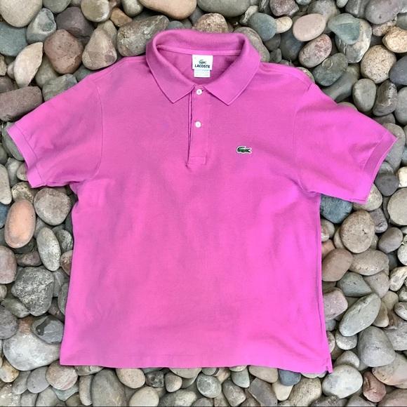f5ce835445b Lacoste Shirts | Pink Polo Shirt Size 4 | Poshmark